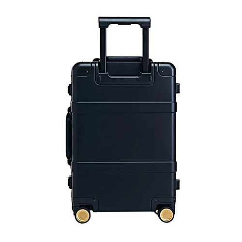 90FUN Aluminum Biometric Luggage 20 inch - Black