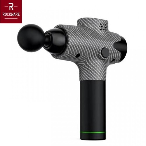 ROCKWARE RW-EM003 - Body Muscle Massage Gun With LCD - Black Carbon