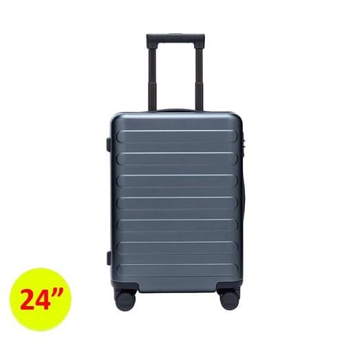 90FUN SEVEN-Bar Business Travel Suitcase 24inch - Dark Grey