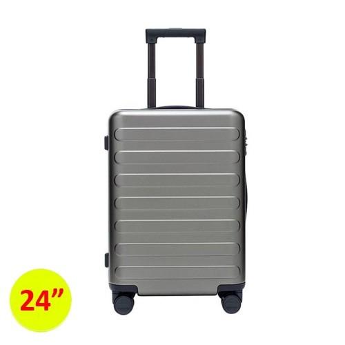 90FUN SEVEN-Bar Business Travel Suitcase 24inch - Light Grey