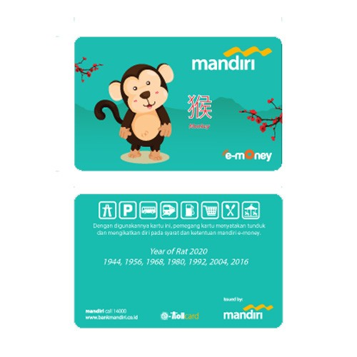 Mandiri e-Money Shio - Monyet