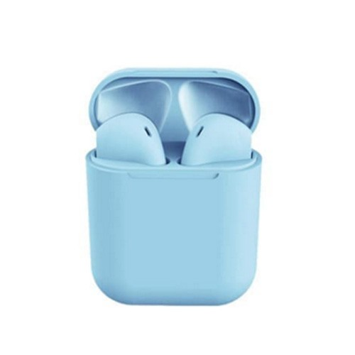 Headset Bluetooth Wireless Inpods 12 Macaroon - Blue