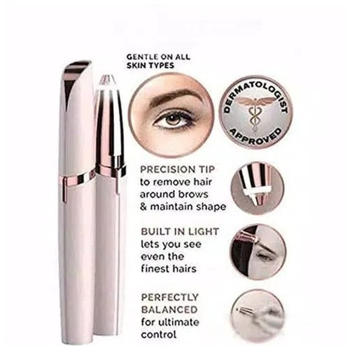 Pen Cukur Alis Electric Eyebrow Trimmer Ladies Shaver Finishing Touch