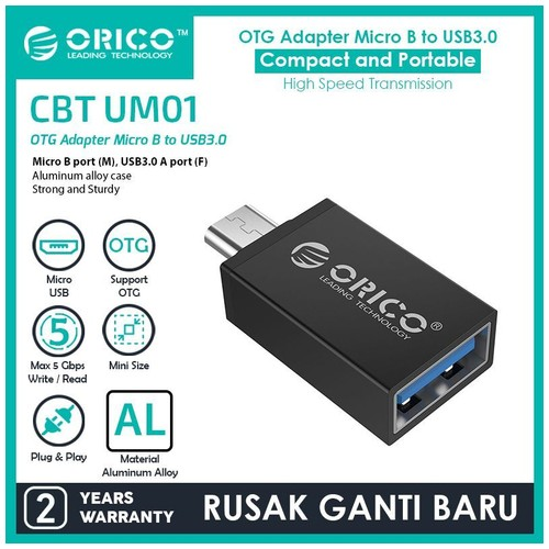 ORICO OTG Micro USB to USB3.0 Adapter - CBT-UM01 - Black