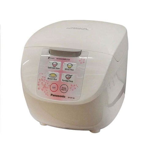 Panasonic Rice Cooker with Fuzzy Logic Technology SR-DF181PSR - White