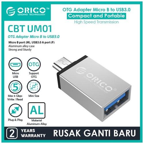 ORICO OTG Micro USB to USB3.0 Adapter - CBT-UM01 - Silver