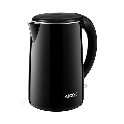 AICOOK Double Wall Electric Kettle Black SWF17S05A