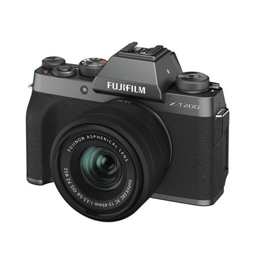 Fujifilm Mirrorless Digital Camera X-T200 + XC15-45mm - Dark Silver