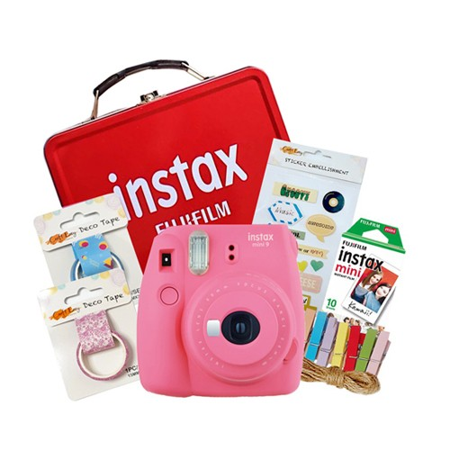Fujifilm Instax Mini 9 Craft Package - Flamingo Pink