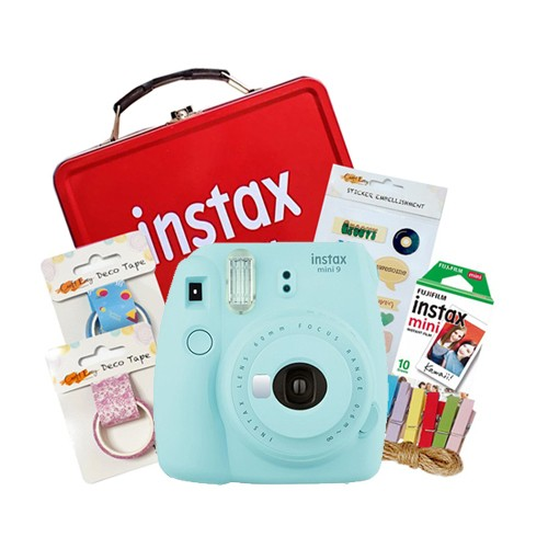Fujifilm Instax Mini 9 Craft Package - Ice Blue