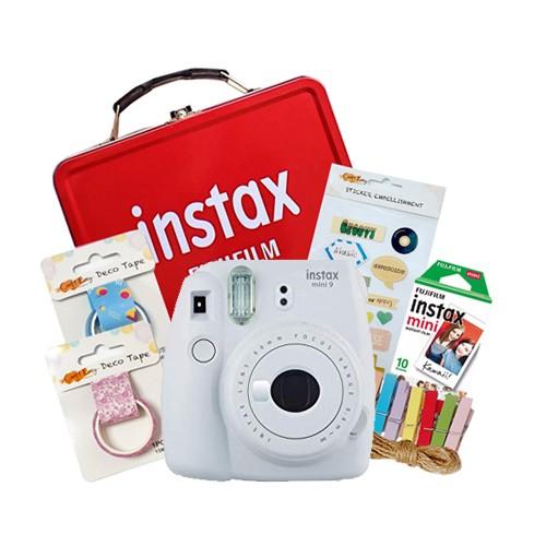 Fujifilm Instax Mini 9 Craft Package - Smokey White