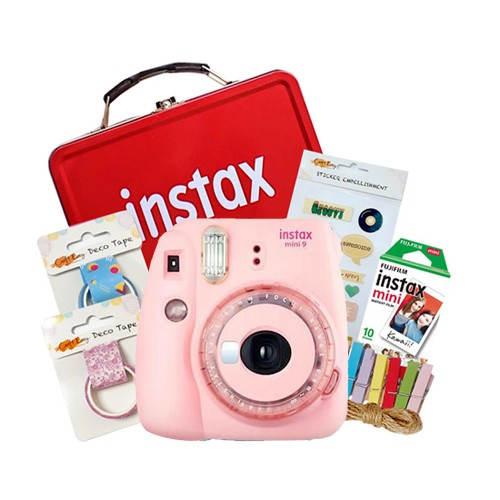 Fujifilm Instax Mini 9 Craft Package - Clear Pink