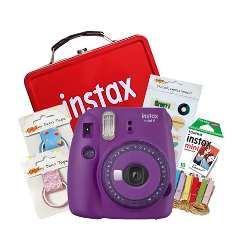 Fujifilm Instax Mini 9 Craft Package - Clear Purple