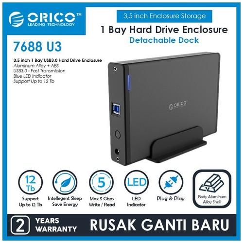 ORICO 7688U3 3.5 inch USB3.0 External Hard Drive Enclosure