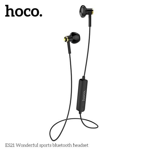 HOCO ES21 Earphone Wireless Wonderful Sports Headset Bluetooth with Microphone - Black
