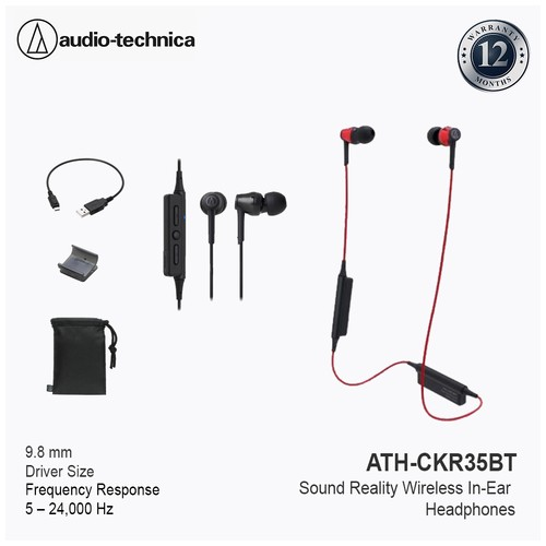 Audio Technica ATH-CKR35BT Sound Reality Wireless - Red