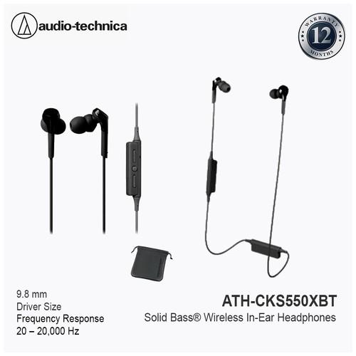 Audio-Technica ATH-CKS550XBT Wireless In-Ear Headphone Black