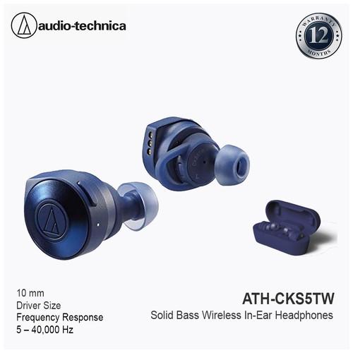 Audio-Technica ATH-CKS5TW Solid Bass TrueWireless - Blue