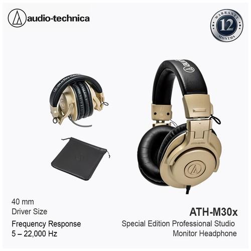 Audio-Technica ATH-M30X Professional Studio Headphones -Champagne Gold
