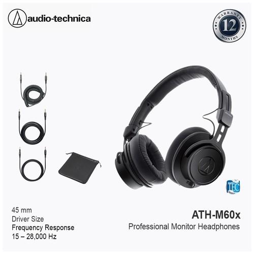 Audio-Technica ATH-M60X Professional Monitor Headphones - Black