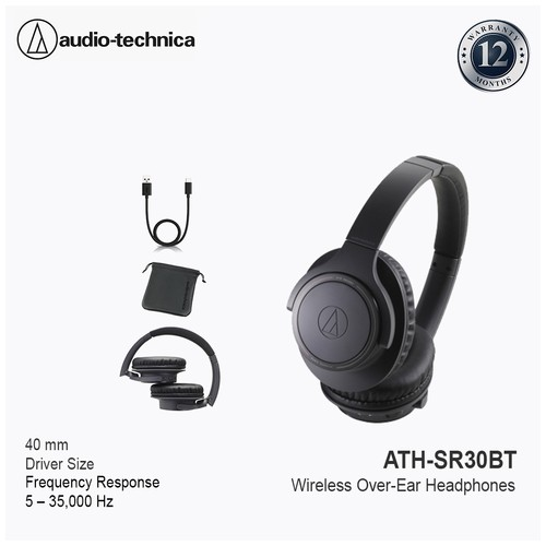 Audio-Technica ATH-SR30BT/ATH-SR30BT Bluetooth Over-Ear Headphones