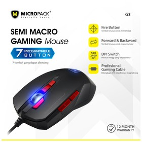 Micropack Mouse Gaming G3 7