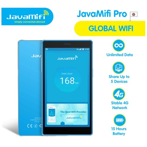 JavaMifi PRO Global Travel Wifi Unlimited 140+ Countries Ownership