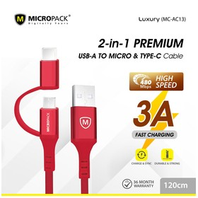Micropack Cable 2 IN 1 USB