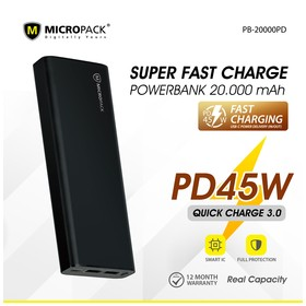 Micropack Power Bank 20000m
