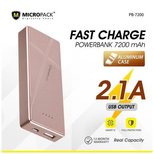 Micropack Slim Power Bank 7200mAh li polymer PB 7200 Rose Gold
