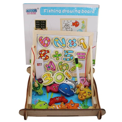 Mainan Edukasi Papan Tulis Gambar Dan Pancing - Fishing Drawing Board