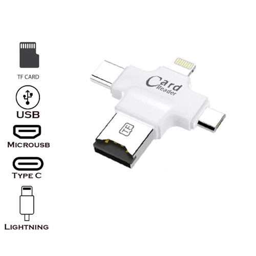 TF OTG Card Reader (TF, USB, Type C, iPhone, MicroUSB)