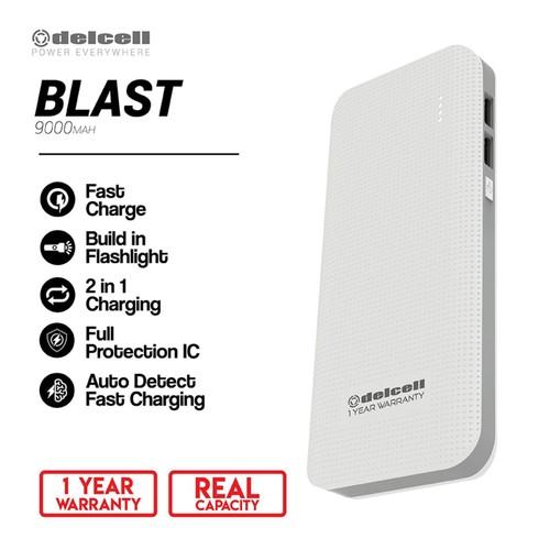 Delcell Power Bank Blast 9000mAh Real Capacity - Putih