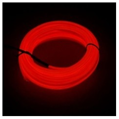 Car Ambient Decorative Accessories Light Lamp USB Power - 5M Dark Red