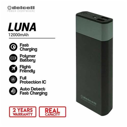 Delcell Power Bank Luna 12.000mAh Real Capacity 2 - Black