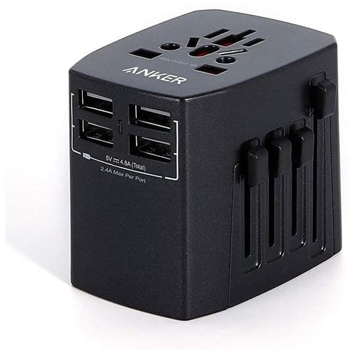 Anker Wall Charger Universal Travel Adaptor Black - A2730