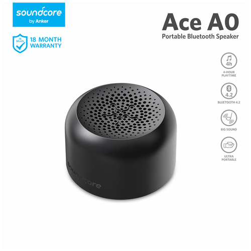 Speaker Bluetooth Anker SoundCore Ace A0 Black - A3150