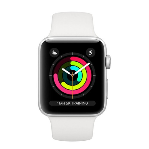 Apple Watch Series 3 GPS 38mm Silver Aluminium Case with White Sport Band - MTEY2ID/A