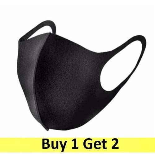 Masker kain model korea - hitam (Buy 1 Get 2)