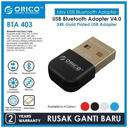 Orico Bluetooth 4.0 Receiver Dongle - BTA-403 - Black
