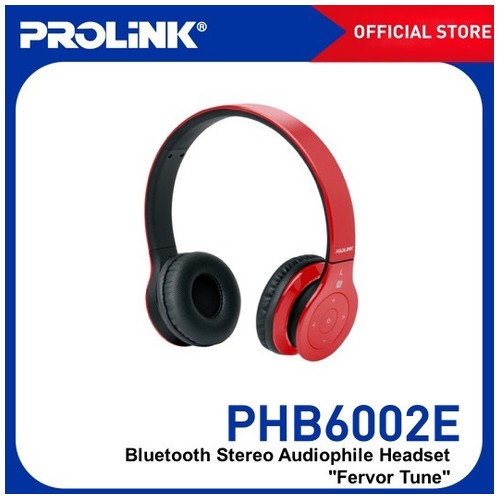 Prolink Bluetooth Stereo Headset With NFC Fervor Tune (PHB6002) - Red