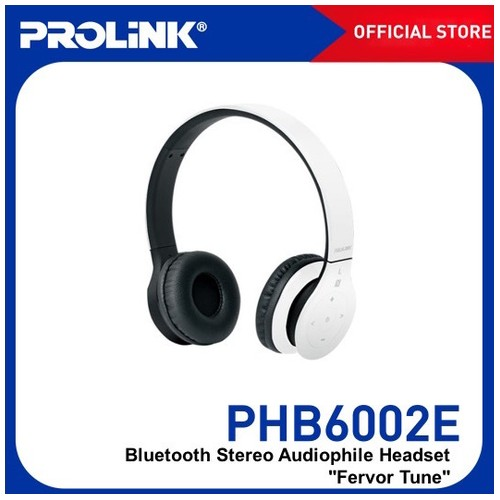 Prolink Bluetooth Stereo Headset With NFC Fervor Tune (PHB6002) - White