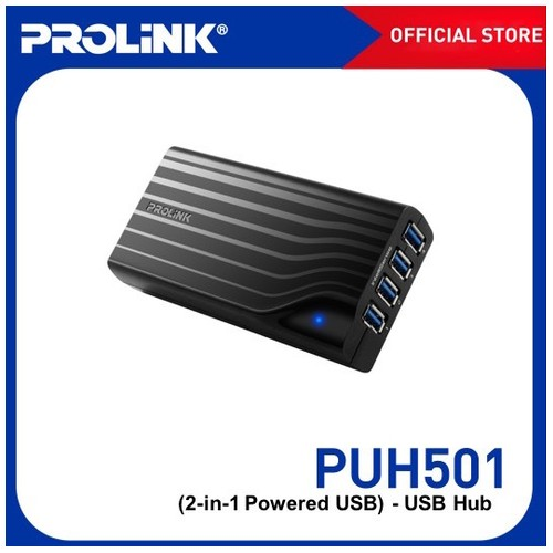 Prolink USB Hub PUH501 - Black