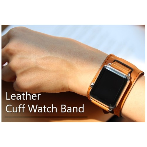 Cozistyle Leather Band for Apple Watch with Wider Pad 42mm Light Brown (CWLB18)