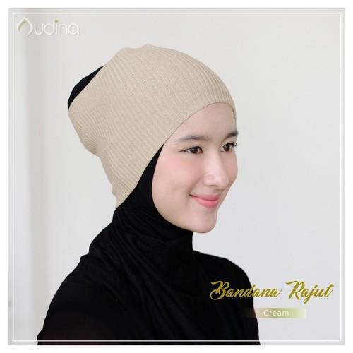 Audina Bandana Rajut - Cream