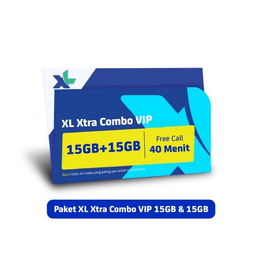 Kartu Perdana & Paket XL Xtra Combo VIP 15GB + 15GB