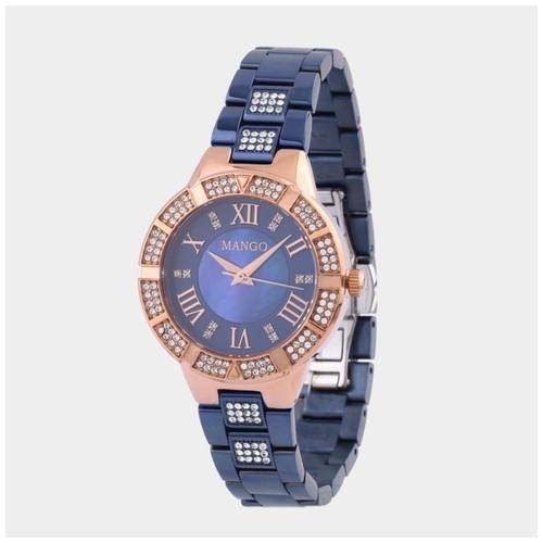 Jam Tangan Wanita Stainless Steel Mango MA6705L-55 - Blue