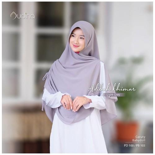 Audina Adibah Khimar - Light Grey