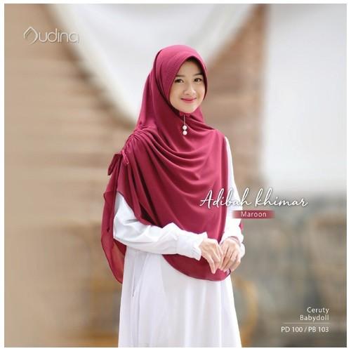 Audina Adibah Khimar - Maroon