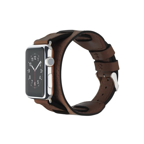Cozistyle Leather Band for Apple Watch with Wider Pad 42mm Dark Brown (CWLB12)